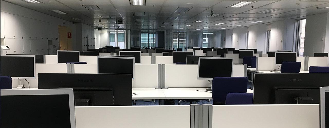 instalacion de Cableado estructurado en red horizontal de ordenadores
